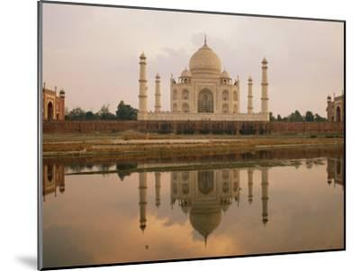 A View of the Taj Mahal Reflected in the Yamuna River-Bill Ellzey-Mounted Photographic Print