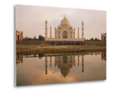 A View of the Taj Mahal Reflected in the Yamuna River-Bill Ellzey-Metal Print