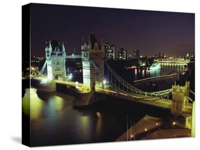 Tower Bridge, Thames River, London, England-O^ Louis Mazzatenta-Stretched Canvas Print