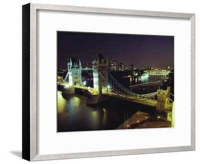 Tower Bridge, Thames River, London, England-O^ Louis Mazzatenta-Framed Photographic Print