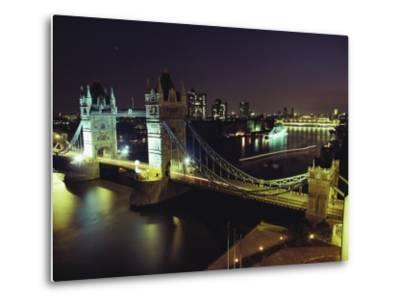 Tower Bridge, Thames River, London, England-O^ Louis Mazzatenta-Metal Print