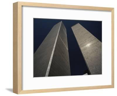 A View of the Twin Towers of the World Trade Center-Roy Gumpel-Framed Photographic Print