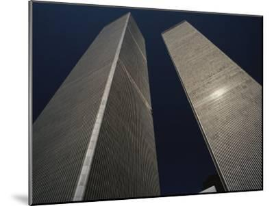 A View of the Twin Towers of the World Trade Center-Roy Gumpel-Mounted Photographic Print