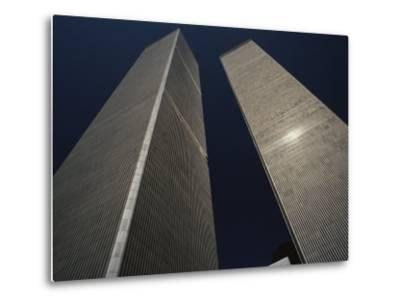 A View of the Twin Towers of the World Trade Center-Roy Gumpel-Metal Print
