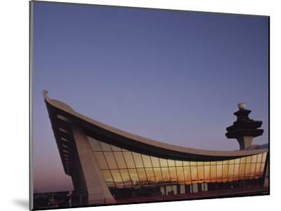 A Twilight View of Dulles International Airport Near Washington, D.C.-Medford Taylor-Mounted Photographic Print