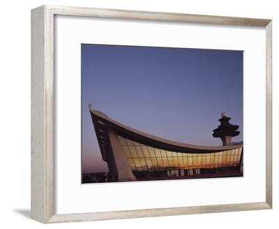 A Twilight View of Dulles International Airport Near Washington, D.C.-Medford Taylor-Framed Photographic Print