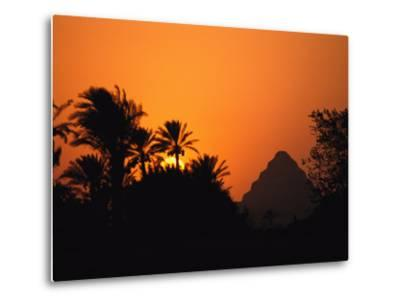 The Step Pyramid of Djoser Silhouetted by the Setting Sun-Kenneth Garrett-Metal Print