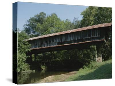 A Covered Bridge in Rural Alabama-Medford Taylor-Stretched Canvas Print