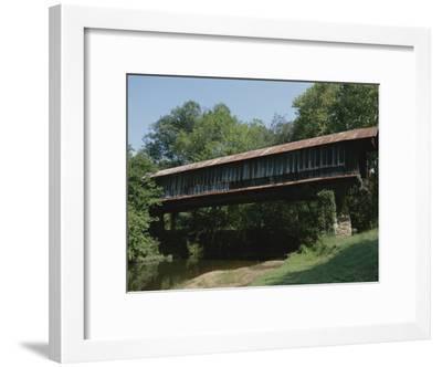 A Covered Bridge in Rural Alabama-Medford Taylor-Framed Photographic Print