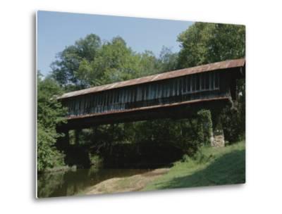 A Covered Bridge in Rural Alabama-Medford Taylor-Metal Print