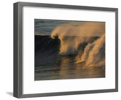 Breaking Surf at Sunset in La Jolla-Tim Laman-Framed Photographic Print