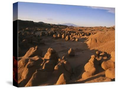 Hoodoos Cover the Landscape of Goblin Valley State Park, Utah-Michael S^ Lewis-Stretched Canvas Print