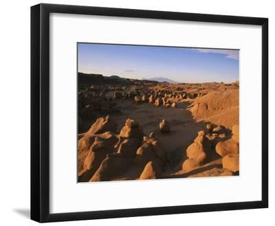 Hoodoos Cover the Landscape of Goblin Valley State Park, Utah-Michael S^ Lewis-Framed Photographic Print
