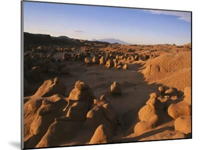 Hoodoos Cover the Landscape of Goblin Valley State Park, Utah-Michael S^ Lewis-Mounted Photographic Print