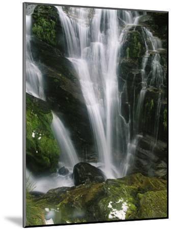 Small Waterfall Near the Milford Track on New Zealands South Island-Mark Cosslett-Mounted Photographic Print
