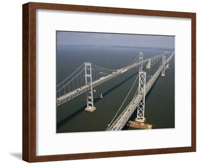 An Aerial View of the Chesapeake Bay Bridge-Richard Nowitz-Framed Photographic Print