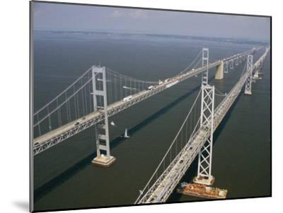 An Aerial View of the Chesapeake Bay Bridge-Richard Nowitz-Mounted Photographic Print