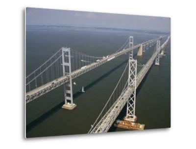 An Aerial View of the Chesapeake Bay Bridge-Richard Nowitz-Metal Print