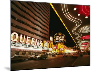 View of Downtown Las Vegas at Night-Walter Meayers Edwards-Mounted Photographic Print
