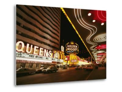 View of Downtown Las Vegas at Night-Walter Meayers Edwards-Metal Print