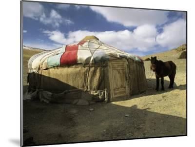 A Yurt with a Colorful Roof in Bayan Olgiy, Mongolia-Ed George-Mounted Photographic Print