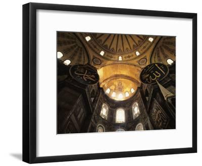 Interior View Looking up Towards the Dome of the Hagia Sophia-Steve Winter-Framed Photographic Print