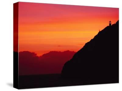 Sunrise over Makapuu Beach and Makapuu Lighthouse-Richard Nowitz-Stretched Canvas Print