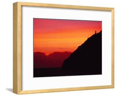 Sunrise over Makapuu Beach and Makapuu Lighthouse-Richard Nowitz-Framed Photographic Print