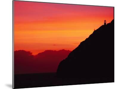 Sunrise over Makapuu Beach and Makapuu Lighthouse-Richard Nowitz-Mounted Photographic Print