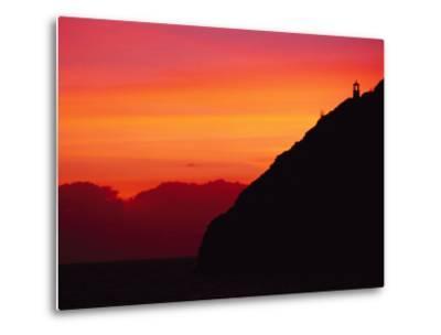 Sunrise over Makapuu Beach and Makapuu Lighthouse-Richard Nowitz-Metal Print