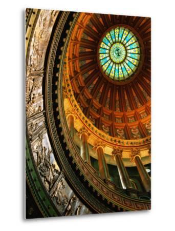 Interior of Rotunda of State Capitol Building, Springfield, United States of America-Richard Cummins-Metal Print