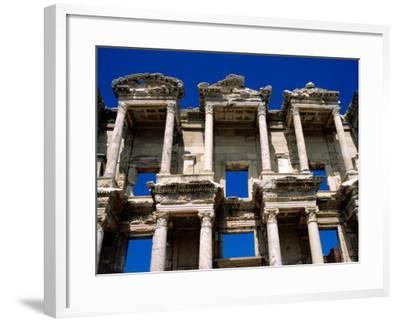 Ruins of Celsus Library, Ephesus, Turkey-Wayne Walton-Framed Photographic Print