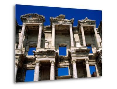 Ruins of Celsus Library, Ephesus, Turkey-Wayne Walton-Metal Print