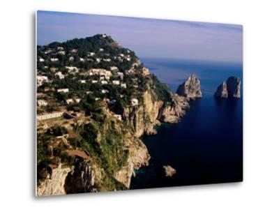 Rocky Coastline and Isola Faraglioni Offshore Rocks from Gardens of Augustus, Capri, Italy-Pershouse Craig-Metal Print