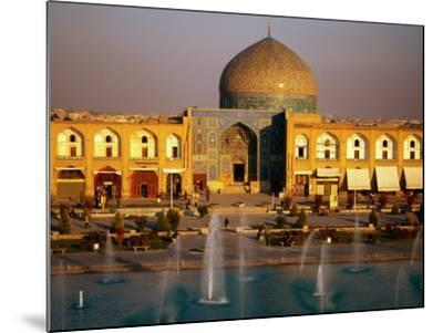 Overhead of Fountains Outside Sheikh Lotfollah Mosque, Emam Khomeini Square, Esfahan, Iran-Mark Daffey-Mounted Photographic Print