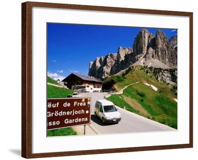 Gardena Pass, Dolomiti Di Sesto Natural Park, Italy-Richard Nebesky-Framed Photographic Print