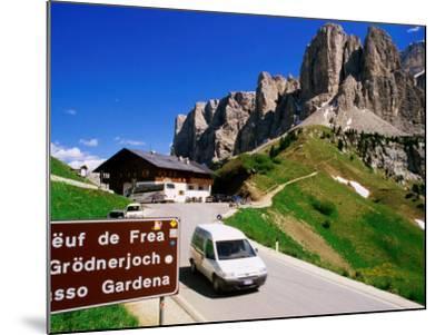 Gardena Pass, Dolomiti Di Sesto Natural Park, Italy-Richard Nebesky-Mounted Photographic Print