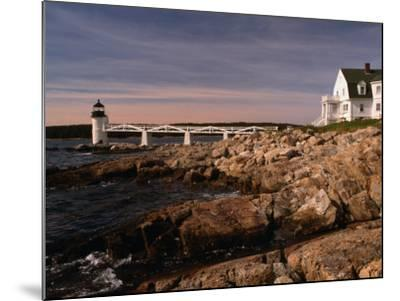 Marshall Point Lighthouse and House on Port Clyde, Maine, USA-Stephen Saks-Mounted Photographic Print