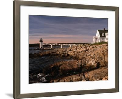 Marshall Point Lighthouse and House on Port Clyde, Maine, USA-Stephen Saks-Framed Photographic Print