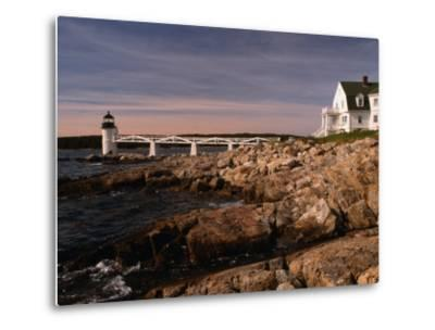 Marshall Point Lighthouse and House on Port Clyde, Maine, USA-Stephen Saks-Metal Print
