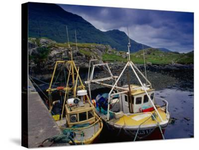 Trawlers at Rosroe in Killary Harbour, Connemara, Ireland-Gareth McCormack-Stretched Canvas Print