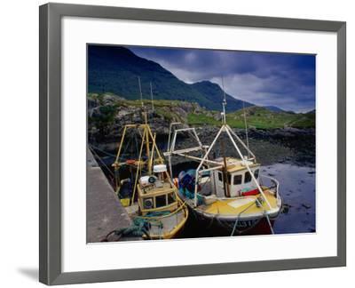 Trawlers at Rosroe in Killary Harbour, Connemara, Ireland-Gareth McCormack-Framed Photographic Print