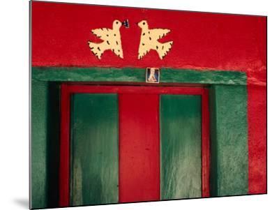 Detail of Painted House Facade, La Venta Del Sur, Honduras-Jeffrey Becom-Mounted Photographic Print