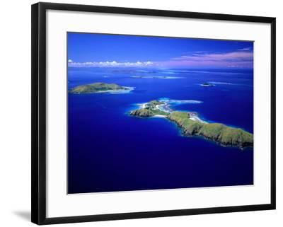 Yanuya Island on Right and Tavua Island on Left, Fiji-David Wall-Framed Photographic Print