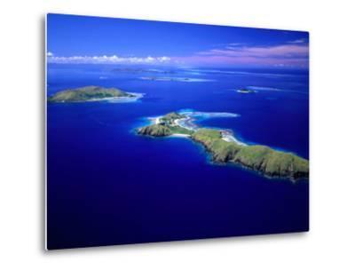 Yanuya Island on Right and Tavua Island on Left, Fiji-David Wall-Metal Print