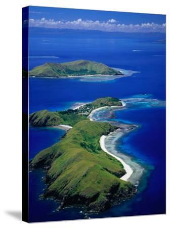 Aerial View of Islands with Yanuya Island in Foreground, Fiji-David Wall-Stretched Canvas Print