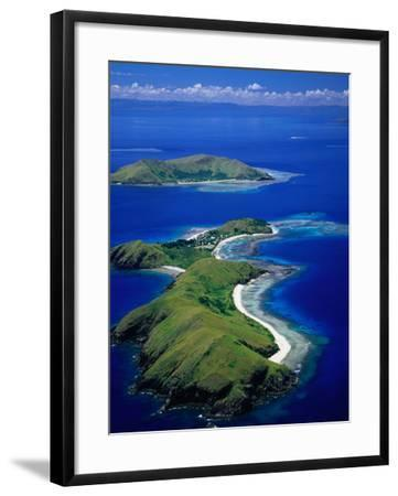 Aerial View of Islands with Yanuya Island in Foreground, Fiji-David Wall-Framed Photographic Print