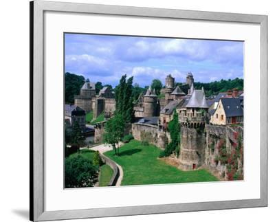 Fortified Walls of Stone, Chateau at Fougeres, Fougeres, France-John Elk III-Framed Photographic Print