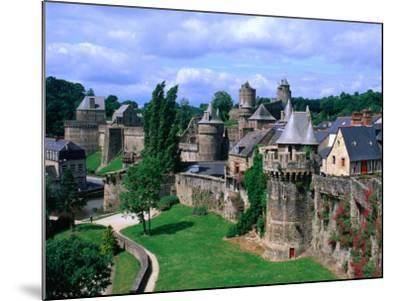 Fortified Walls of Stone, Chateau at Fougeres, Fougeres, France-John Elk III-Mounted Photographic Print