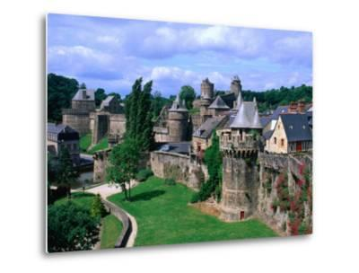 Fortified Walls of Stone, Chateau at Fougeres, Fougeres, France-John Elk III-Metal Print